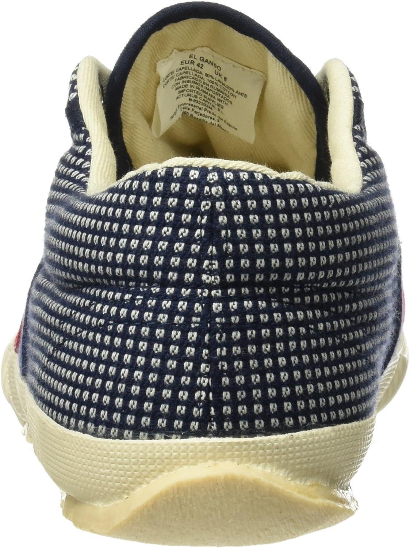 Dark Blue//White Azul 43 EU Zapatillas de Deporte Unisex Adulto El Ganso Tigra Walking Fabric New Hastag