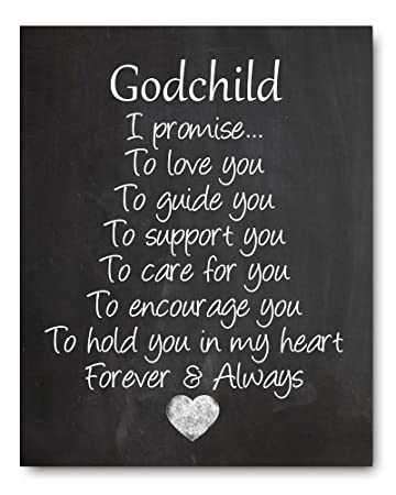 godchild gift godchild quote chalkboard print perfect christeningbaptism gift for godson goddaughter