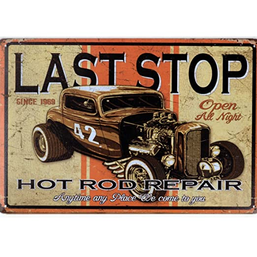 A.G.S. Cartel de Chapa Retro Vintage Custom Hot Rod Last ...
