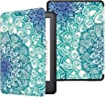 Fintie Slimshell Case for All-New Kindle (10th Generation, 2019 Release) - Premium Lightweight Protective PU Leather Cover with Auto Sleep/Wake for Amazon Kindle E-Reader, Emerald Illusions