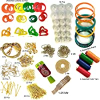Beadsncraft Jewellery Making Accessories, Materials, Kit Full Of Jewellery Making Iteam 16 Items