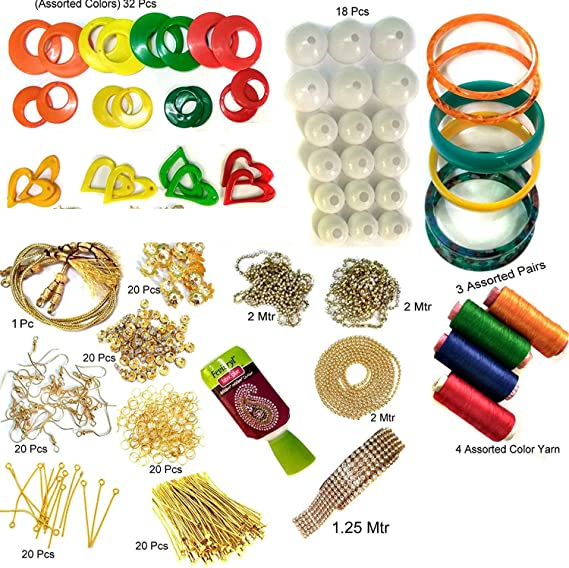Beadsncraft Jewellery Making Accessories Materials Kit Full Of