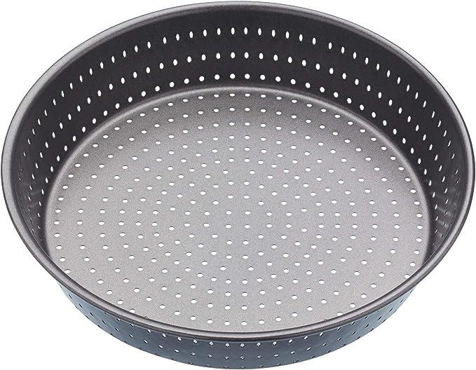 Grey KitchenCraft MasterClass Crusty Bake Non Stick Pastry//Flan Tin 18 cm