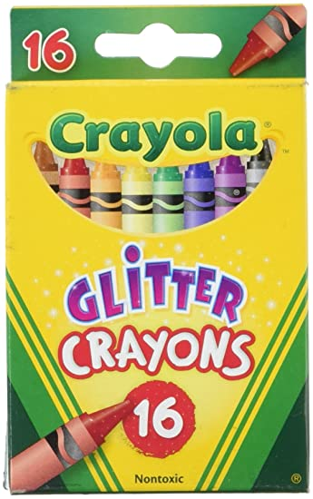 Amazon Com Crayola 16ct Multi Colored Glitter Crayons Toys Games