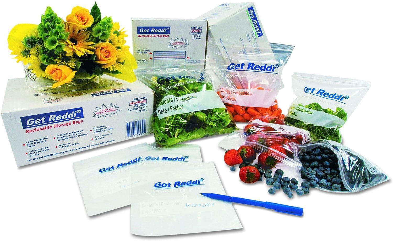 Inteplast Group PB080315 Get Reddi Food & Poly Bag, 8 x 3 x 15, 4.5-Quart, 0.68 Mil, Clear (Case of 1000)