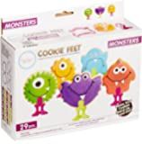 Bakelicious 29-piece Plastic Monster Cookie Cutter & Feet Set Multicolored 73880