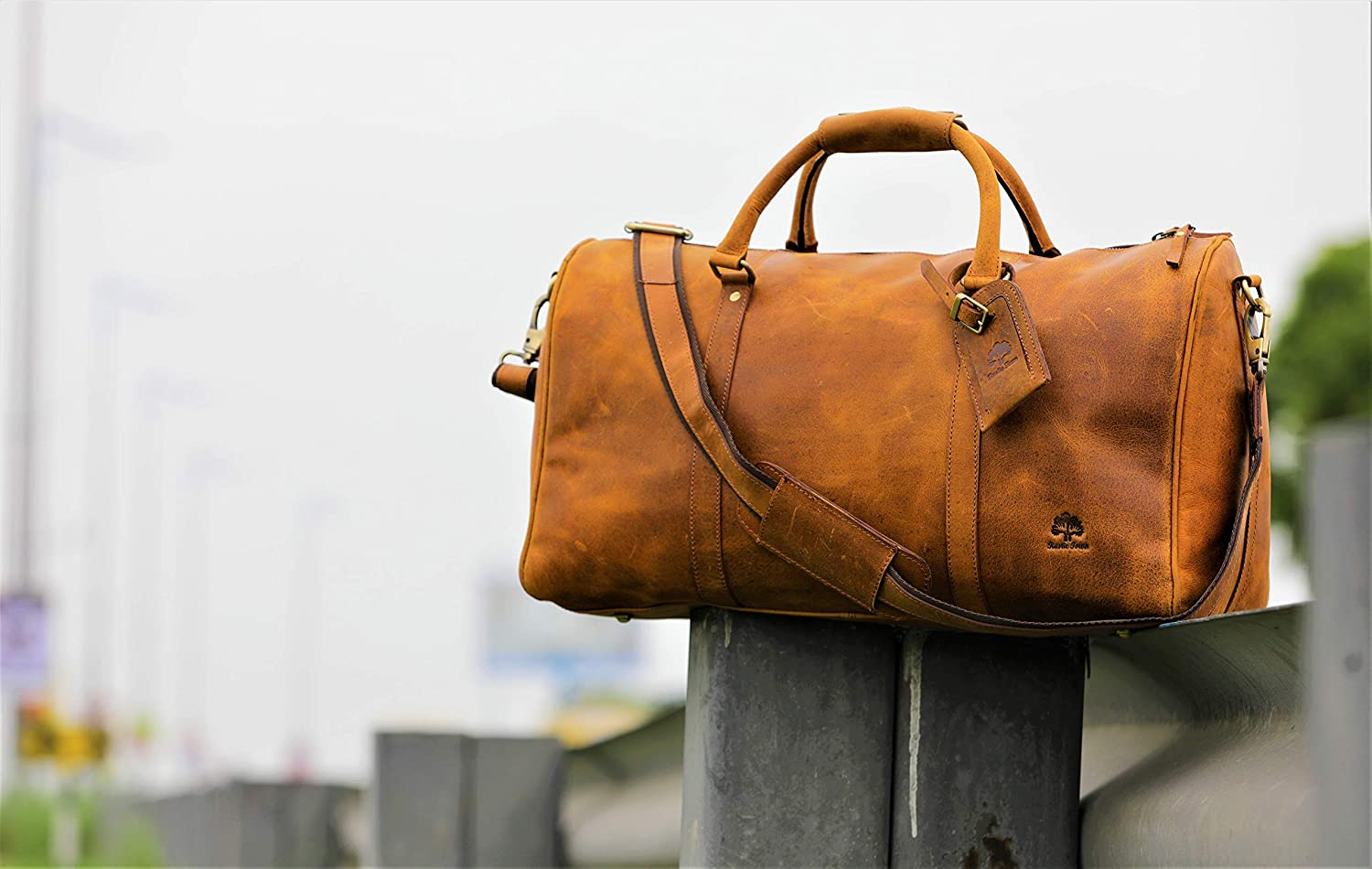 Leather Duffel Bags For Men - Airplane Underseat Carry On Luggage By RusticTown  RusticTown Inc DF17ADN 21a0ce1a9384f