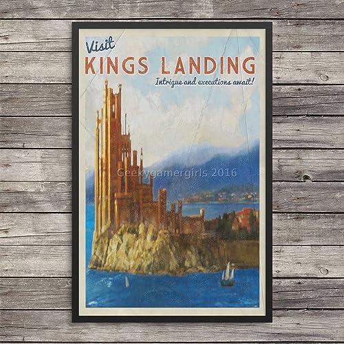 Amazon com: Kings LandingTravel Poster | GOT poster