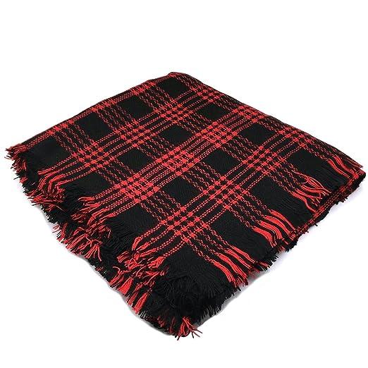 b35b752c47ca4 Tapp C. Women Square Soft Plaid Wraps Shawl Scarf - Red at Amazon Women's  Clothing store