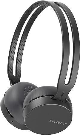 Sony WHCH400H Auriculares inalámbricos (Bluetooth, NFC, micro para llamadas con manos libres, óptimo para trabajar en casa), Negro, talla única