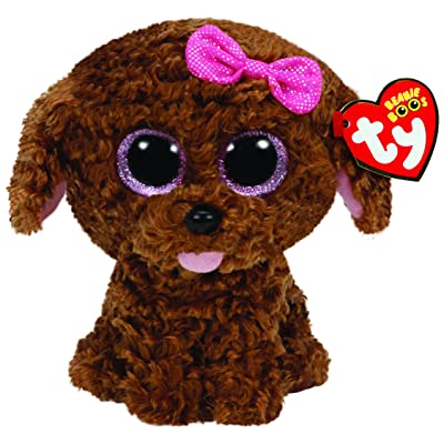 Ty Beanie Boos Maddie The Brown Dog with Bow Plush: Toys & Games