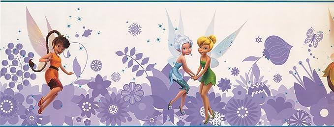 "Disney FAIRIES Cut-Out Top Large 17-1//4/"" x 15/' Wallpaper Border Roll  3 Avail"