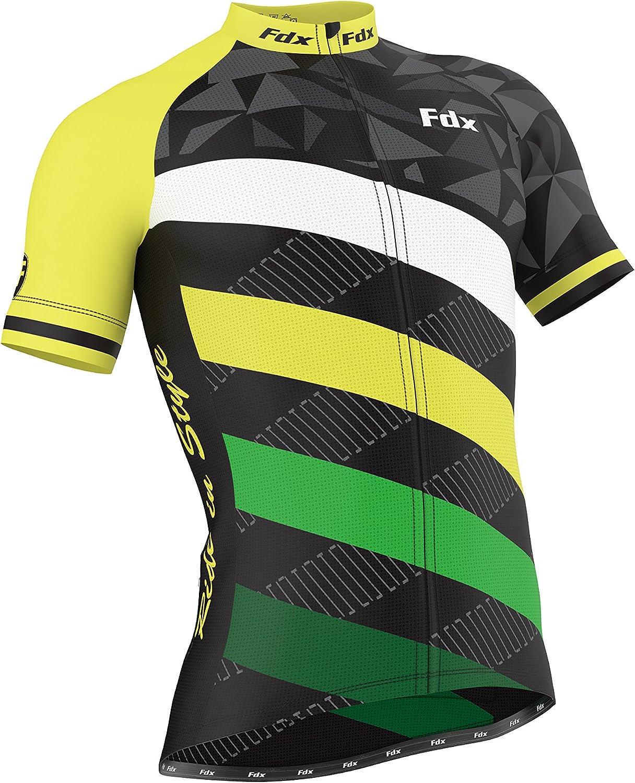 FDX Herren Fahrradhose mit Gel-Polsterung und Trikot