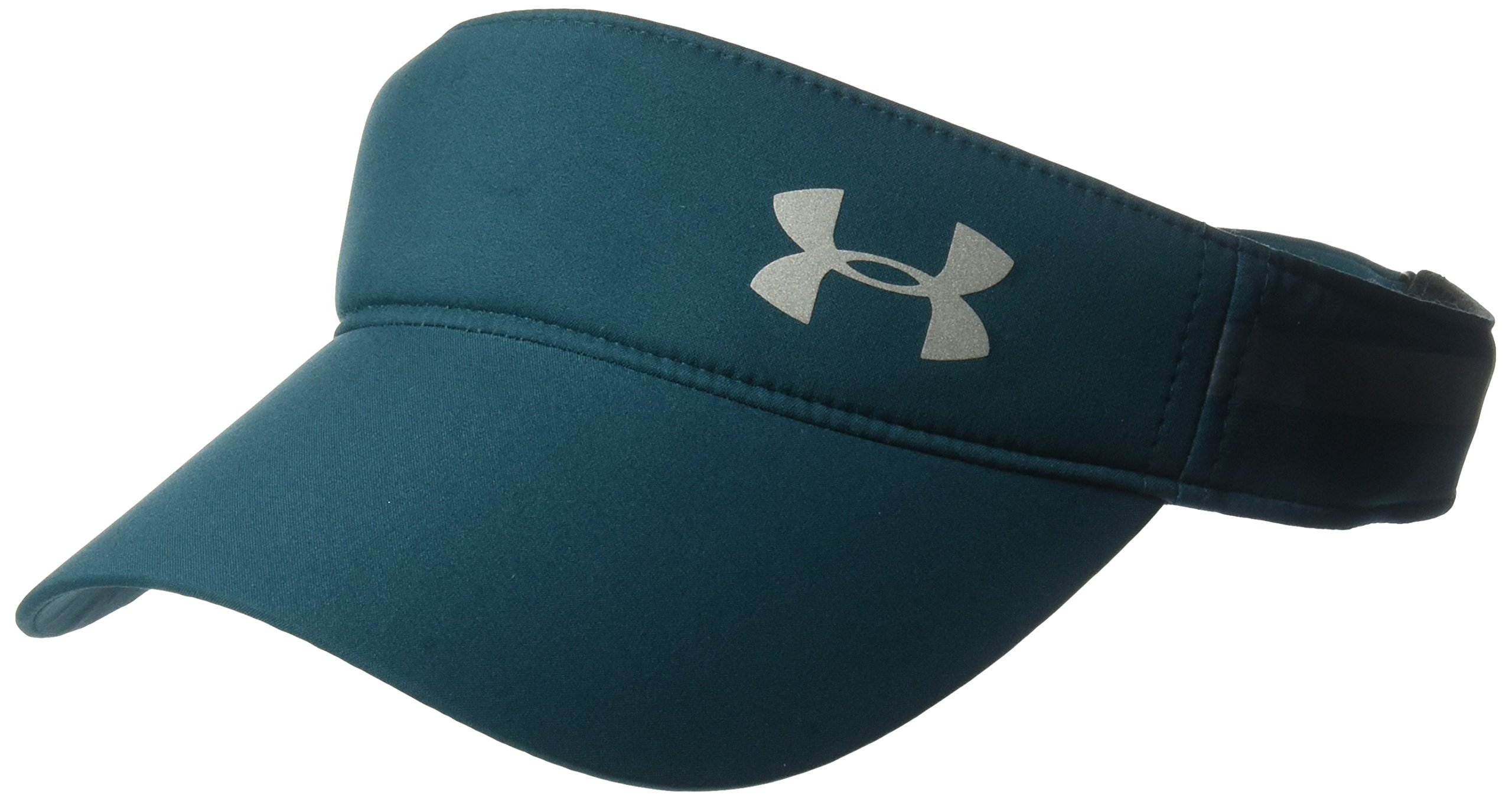 Under Armour Women's Fly-By Visor, Tourmaline Teal (716)/Silver, One Size Fits All
