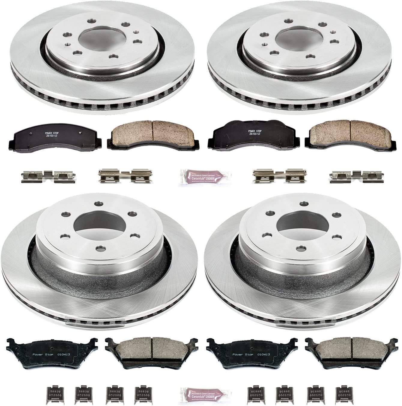 Z17 Front Kit-Coated Rotors and Ceramic Brake Pads Power Stop CRK8269
