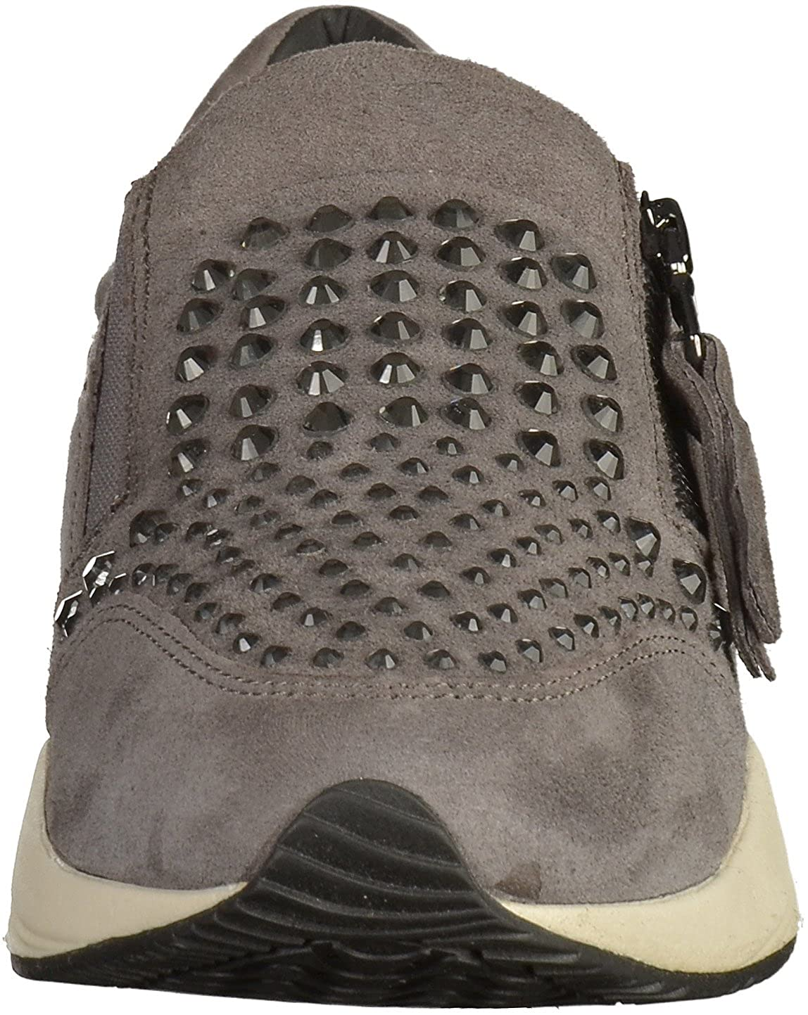 Geox Damen D Omaya C Sneaker Dunkelgrau Dunkelgrau Sneaker c9424b