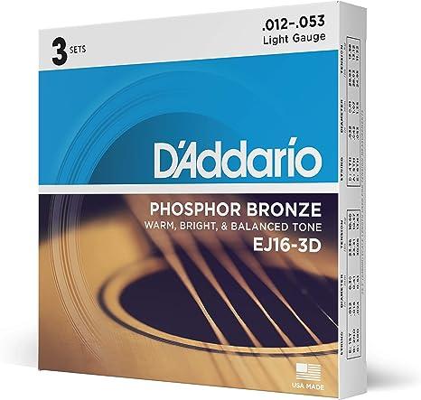 D'Addario EJ16-3D Acoustic Guitar Strings