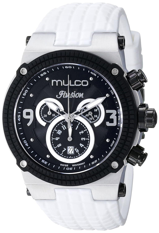 Amazon.com: MULCO Unisex MW3-12140-015 Ilusion Analog Display Swiss Quartz White Watch: Watches