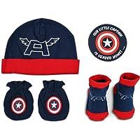 Juego de calcetines y manoplas para niños de Marvel, de 0 a 3 meses