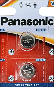 Panasonic One (1) Twin Pack (2 Batteries) CrCR2032 Lithium Coin Cell Battery 3V Blister Packed
