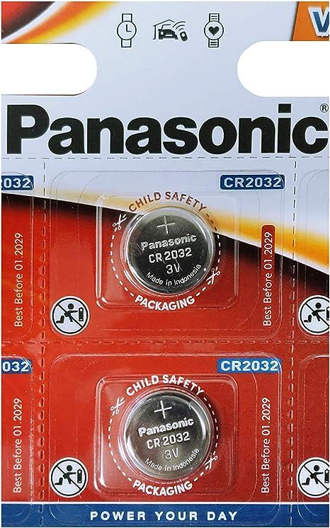 Amazon.com: Un paquete (1) (2 pilas) Panasonic CR2032 pila ...