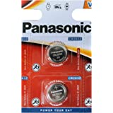 Panasonic CR2032 Battery (2 pack) - Lithium Coin Cell, 3V