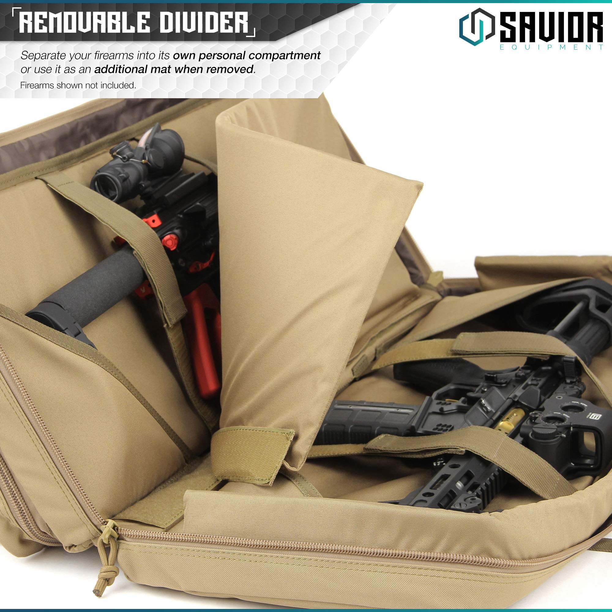 Savior Equipment American Classic Tactical Double Short Barrel Rifle Gun Case Firearm Bag - Suitable for Subgun Bullpups Carbine Shotgun SMG SBR AR AK Pistol, Available Length in 24'' 28'' 32'' by Savior Equipment (Image #3)