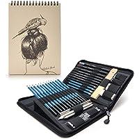 Ker-AC Set de Arte-(41 Pieza) Pintura Profesional, croquizado y Dibujo | All Media Art Set, con un Cuaderno de Dibujo de 60-Sheet Bloc de bocetos Incluido, Artistik Art & Artist Supplies Kit