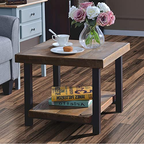 Coffee Table Easy Assembly Hillside Rustic Natural End Table