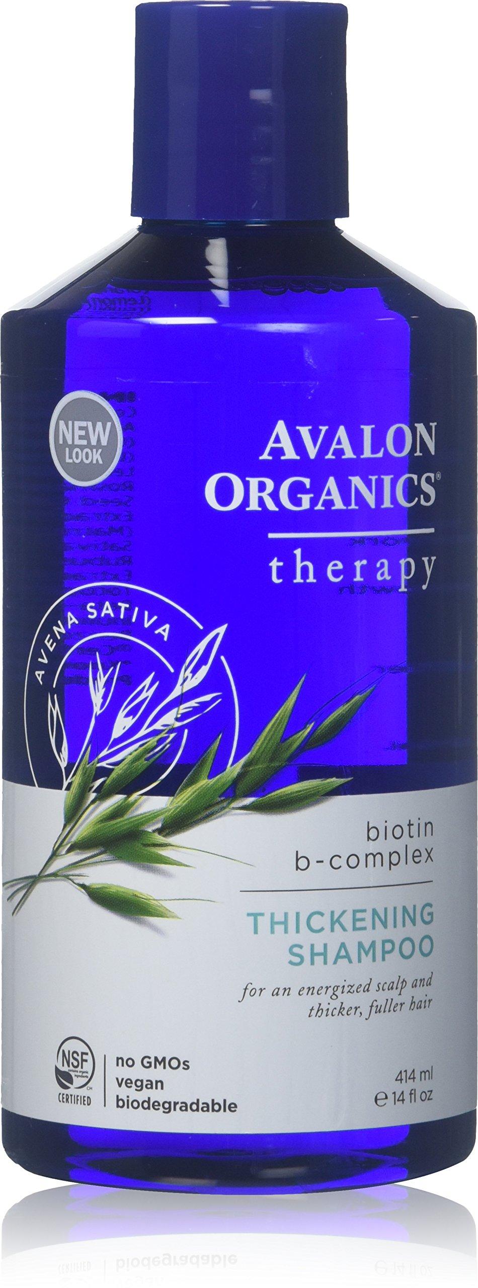 Avalon Organics Biotin B-Complex Thickening Shampoo 14 Fl Oz (Pack of 2)