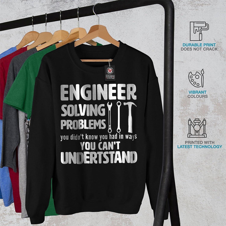 Gag Casual Jumper wellcoda Engineer Solve Problem Mens Sweatshirt