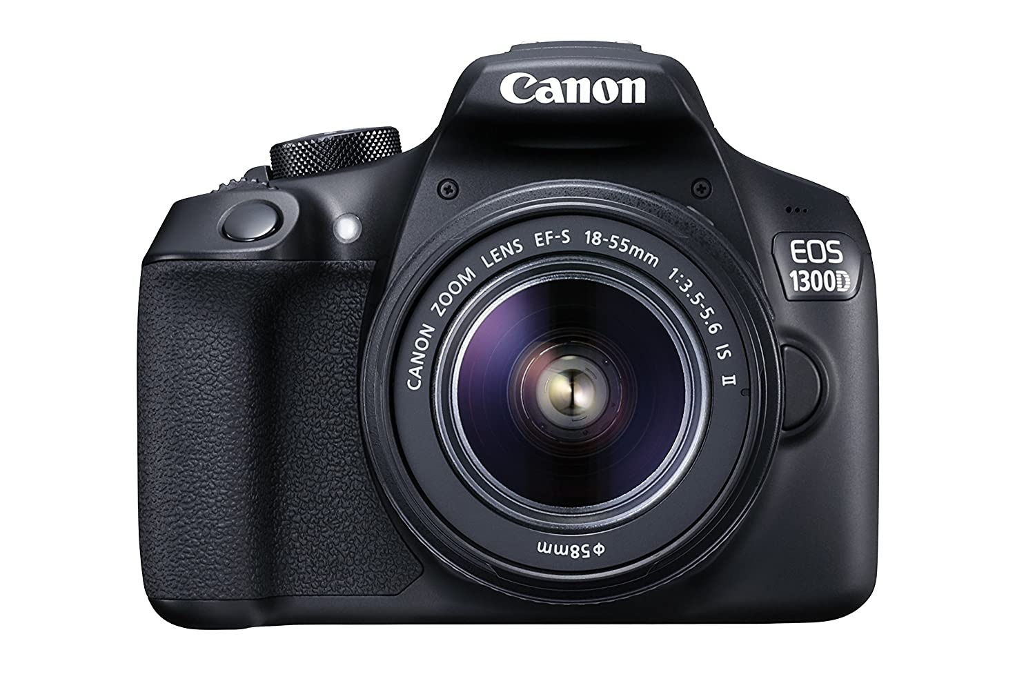 Canon EOS 1300D EF-S 18-55mm 18.7MP CMOS 5184 x 3456 Pixels (Black) - International Version (No Warranty)