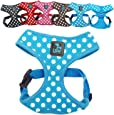LSW Pet Design No Pull Small Dog - Pet Harness – Breathable Dotty Cotton Design and Sizes (Blue Medium)