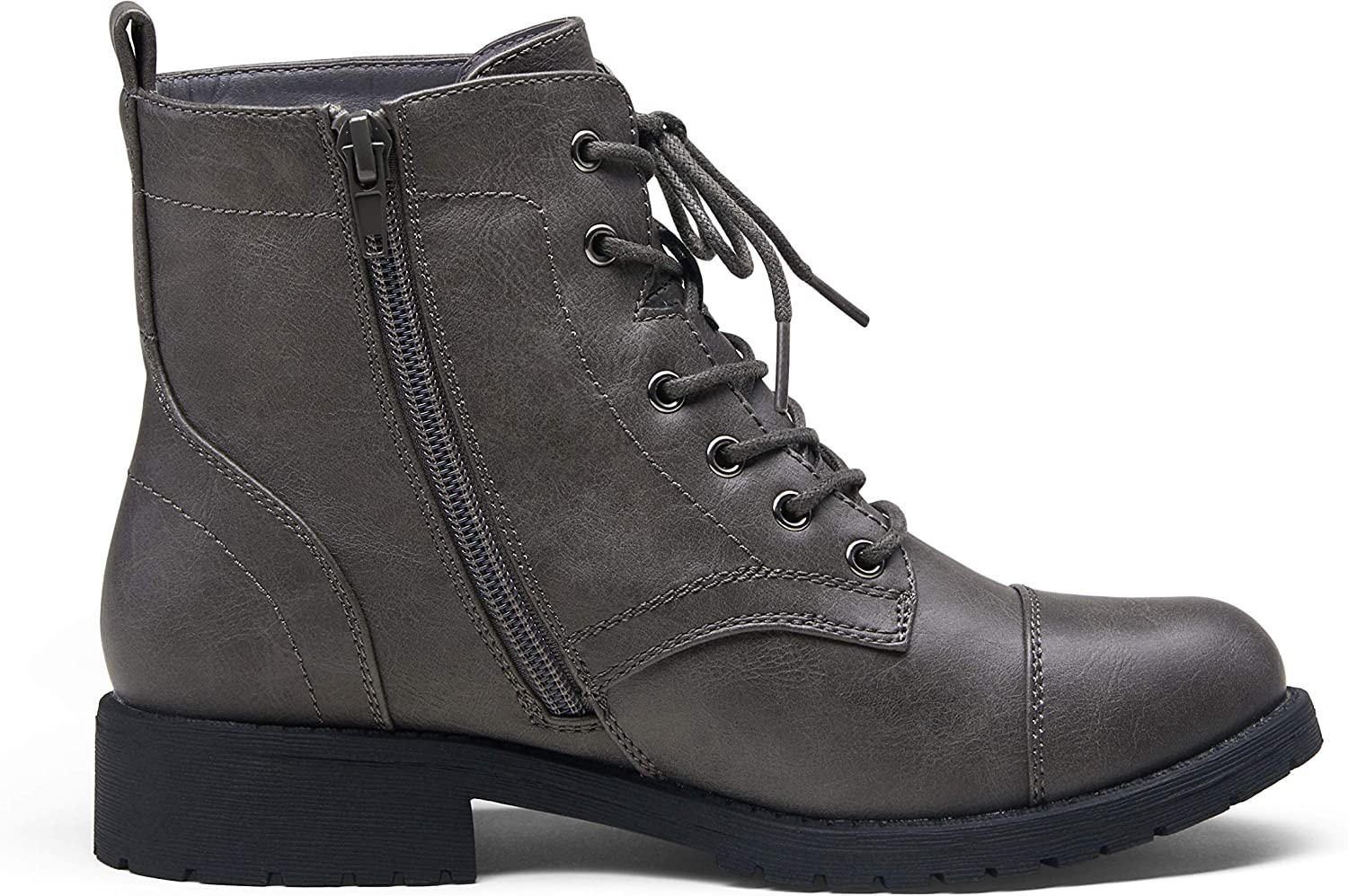 VEPOSE Womens Fashion Ankle Booties Combat Boots for Women