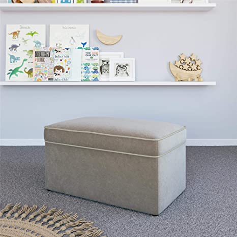 Sensational Baby Relax Hadley Nursery Storage Ottoman For Baby Gliders Dark Taupe Dark Taupe Gmtry Best Dining Table And Chair Ideas Images Gmtryco
