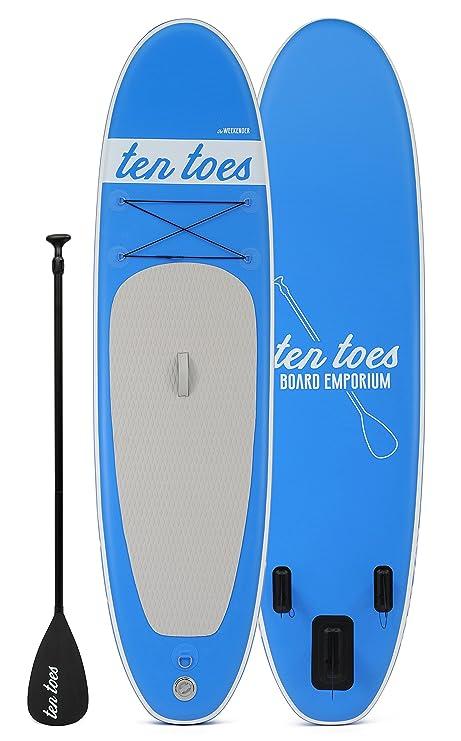 TENTOES Diez Dedos revigorizado los Fines de Semana Paddle Board fardo Azul Azul Talla:Mediano