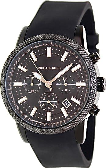 Amazon.com: Original Original Michael Kors Scout Chronograph Black Dial Black Silicone Me...: Michael Kors: Clothing