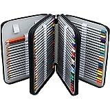 Finerolls 124 Trous Trousse Pochette Sac de Crayon Organisateur Crayon Porte-Crayons pour l'école et Bureau avec Grand Capacité Multi- couches Noir