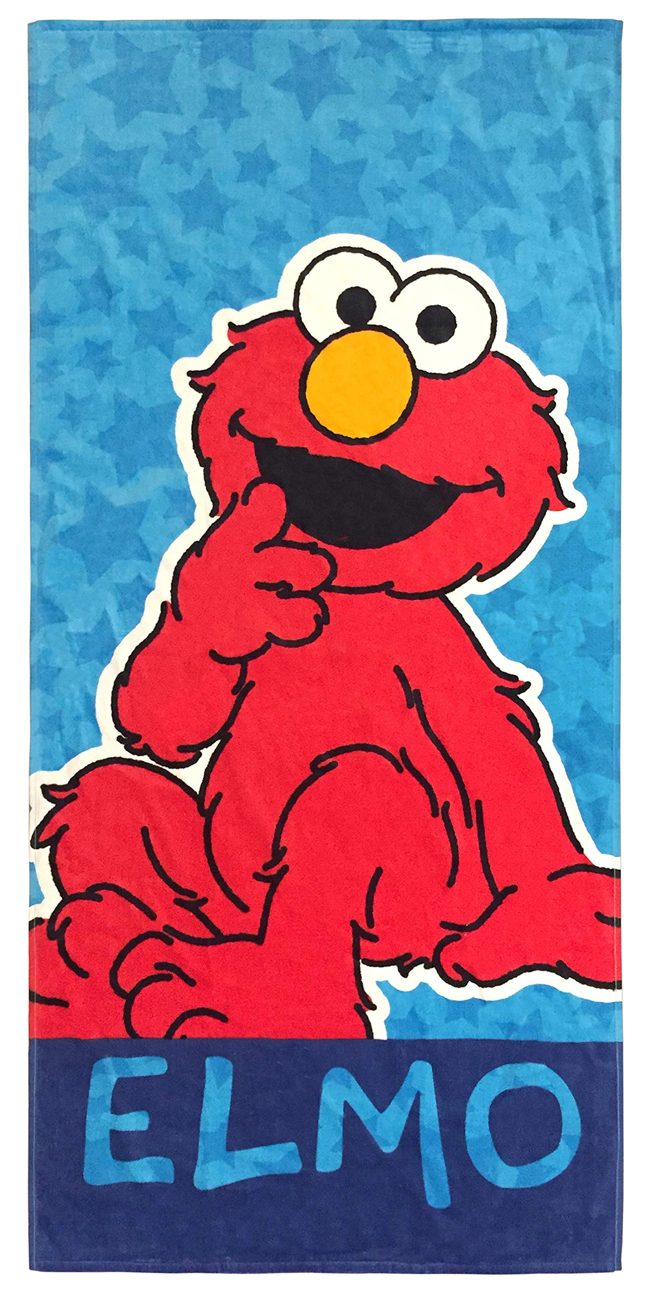 Jay Franco Sesame Street Kids Bath/Pool/Beach Towel - Featuring Elmo - Super Soft & Absorbent Fade Resistant Cotton Towel, Measures 28 inch x 58 inch (Official Sesame Street Product) by Jay Franco