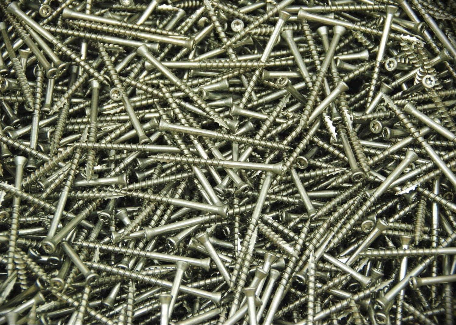 Stainless Steel Torx Flat Trim Head 7 x 3 Wood Screw Type 17 Star T15 200