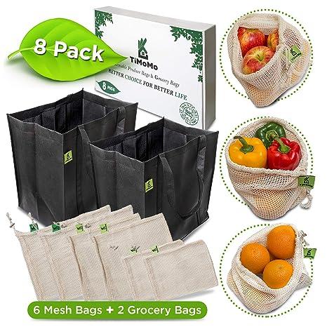 Amazon.com: Bolsas reutilizables con bolsas de comestibles ...