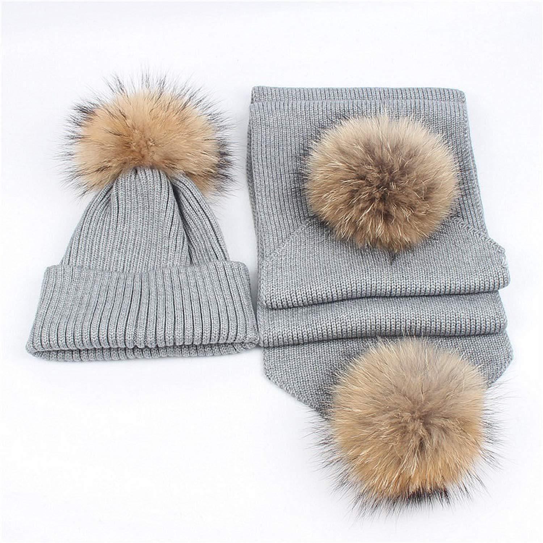Beste Geschenk,Black Schal Anzug Art Und Weise Neue Stricken Winter Warme Skifahren Casual Hut