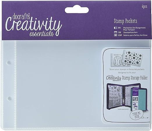 Docrafts Creativity Essentials Stamp Storage Ring Folder A5 Pockets A6 Pockets