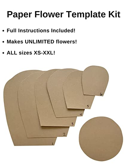 Amazoncom Paper Flower Template Kit Make Your Own Paper Flowers - Do it yourself will template