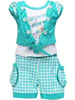Golden Girl Baby Girl's Cotton Top and Shorts Set