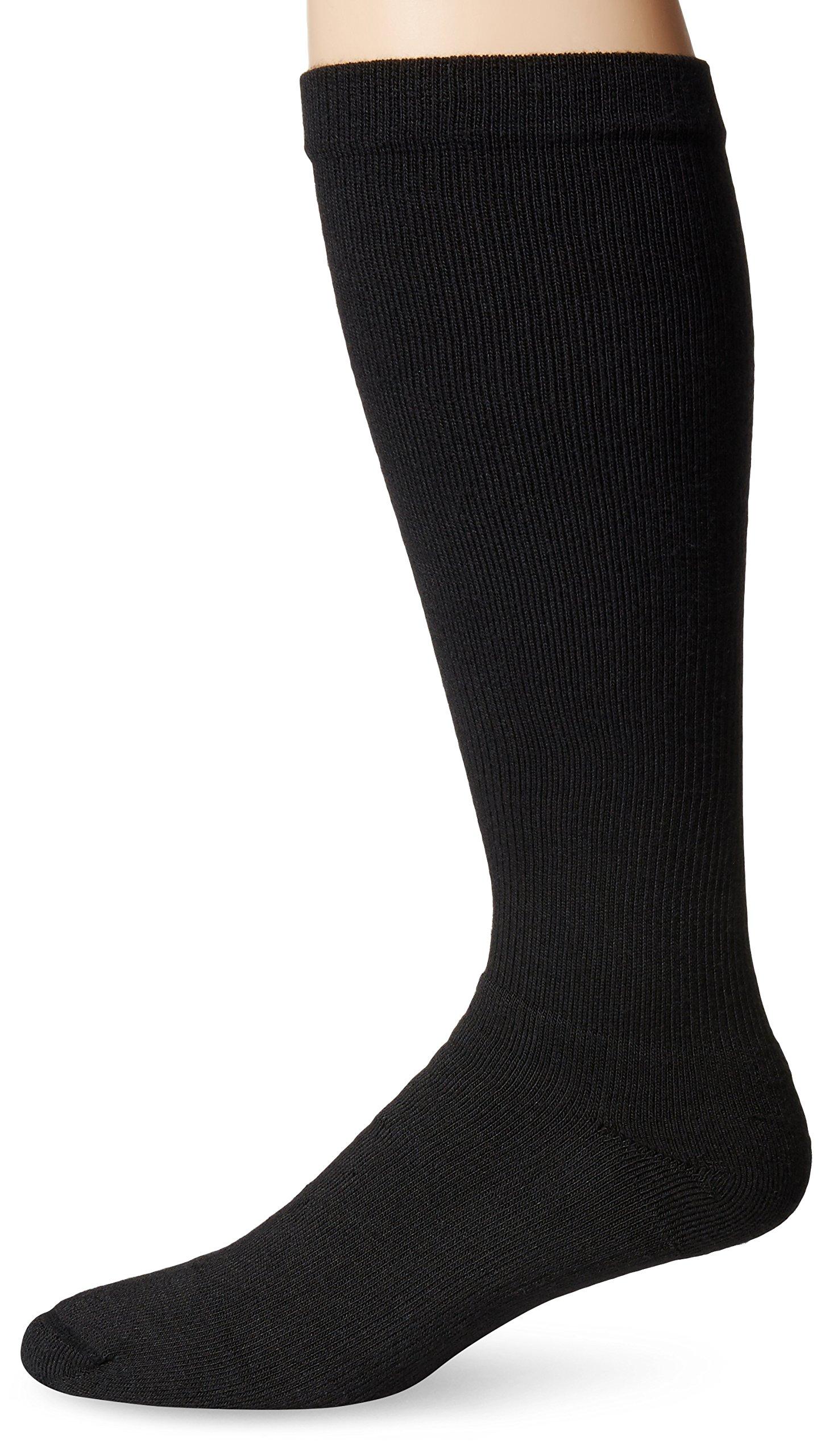 Dr. Scholl's Men's Coolmax Firm Support Socks,  Black, Shoe: 7.5-10