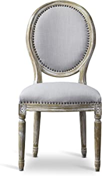 Baxton Studio Clairette French-Style Oval Back Accent Chair