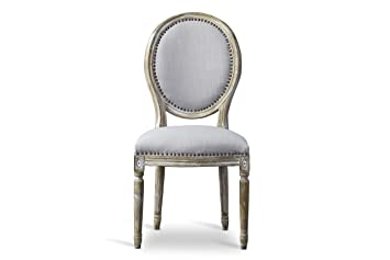 Groovy Baxton Studio Clairette Beige Linen French Style Natural Oak Wood Accent Chair Oval Back Gamerscity Chair Design For Home Gamerscityorg