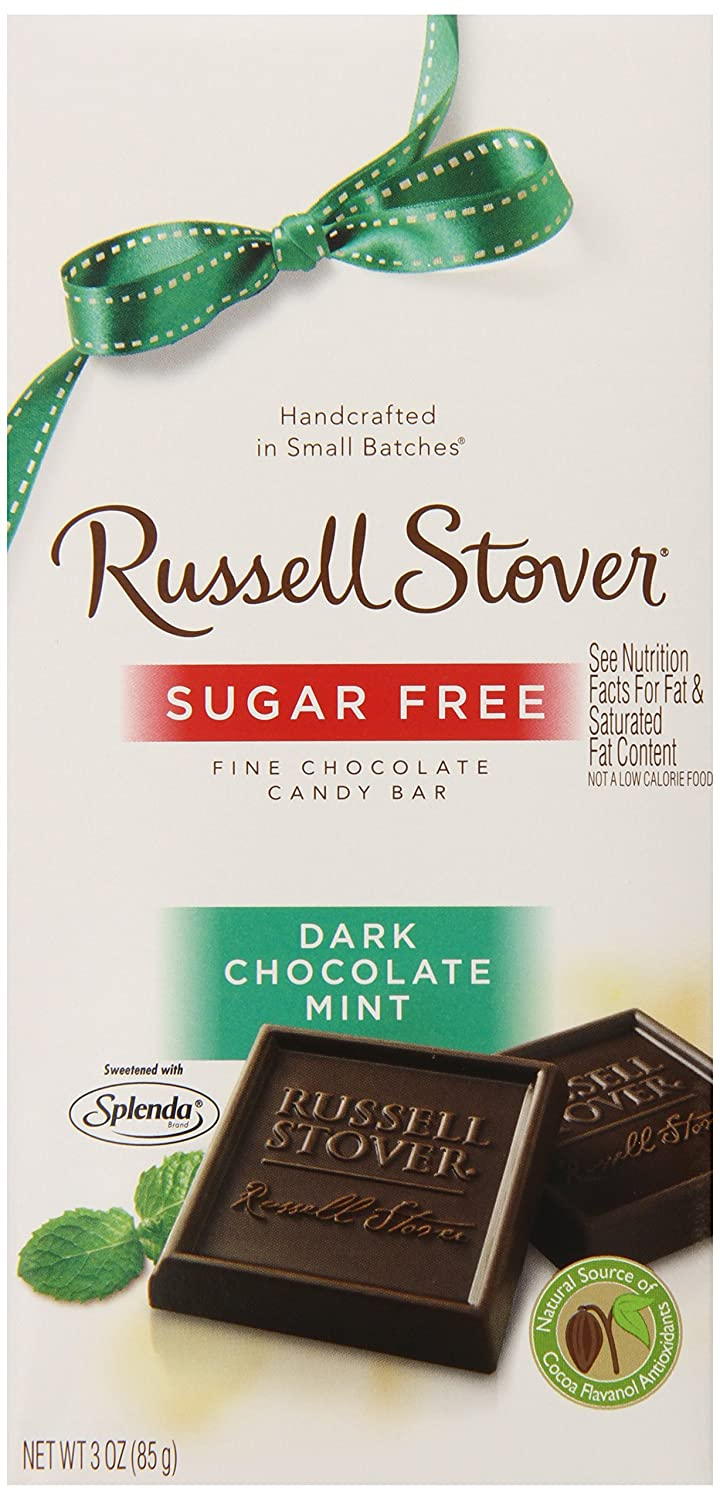 Amazon.com : Russell Stover Sugar Free Dark Chocolate Mint Candy ...