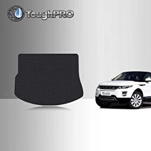 TOUGHPRO Cargo/Trunk Mat Accessories Compatible with Land Rover Range Rover Evoque - All Weather - Heavy Duty - (Made in USA) - Black Rubber - 2012, 2013, 2014, 2015, 2016, 2017, 2018, 2019